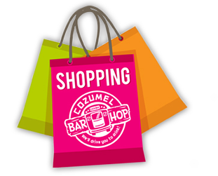 shopping Cozumel Bar Hop